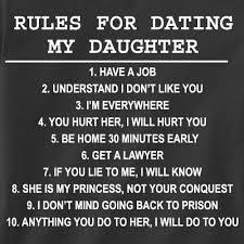 9 rules for dating my teenage daughter. what are the best paid dating sites.
