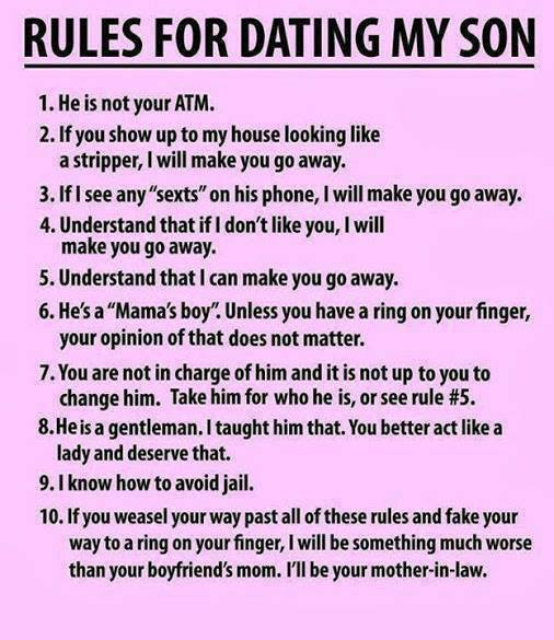 rules of dating my son