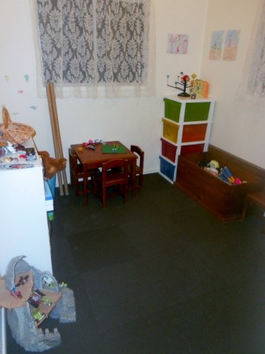 The playroom (I cleaned all the Lego off the floor for this shot)